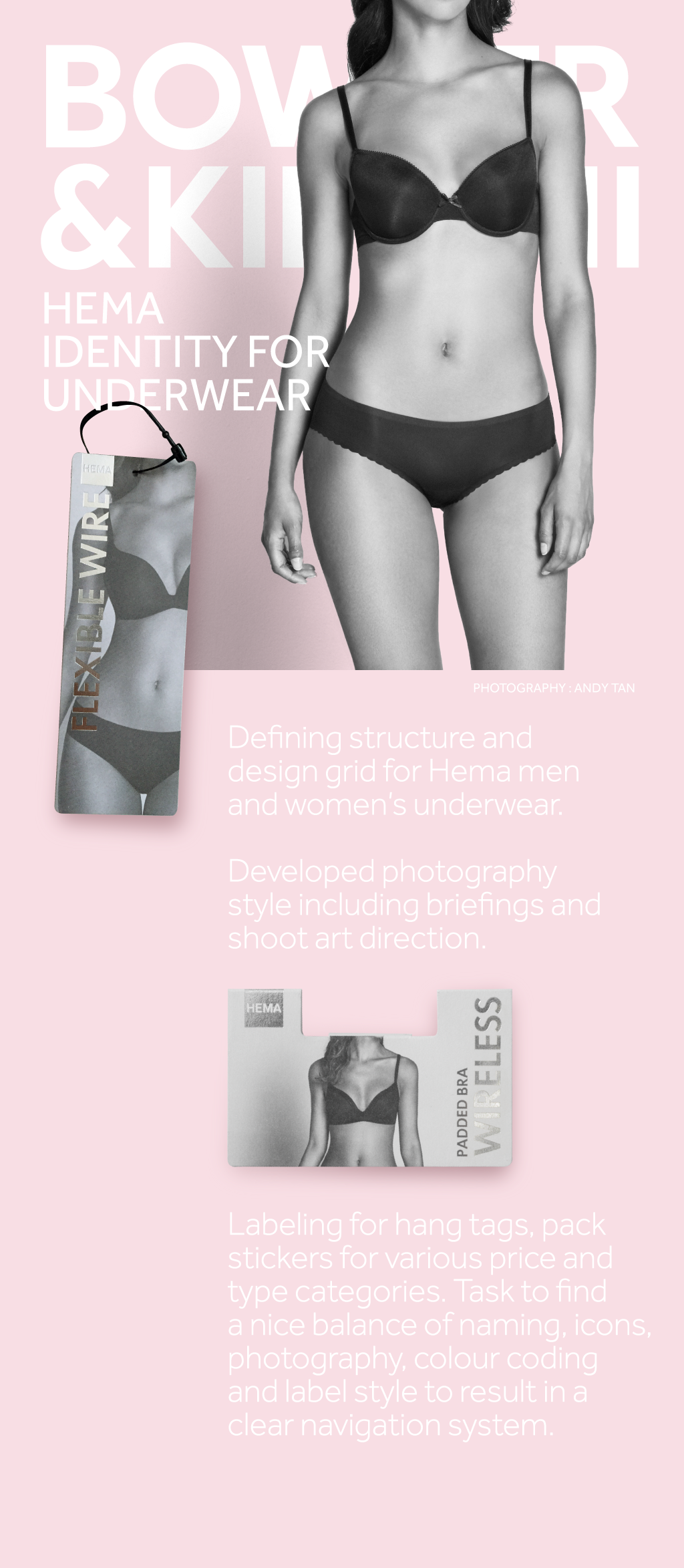 Hema visual identity underwear